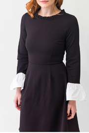 Smak Parlour Black and white dress - Front full body