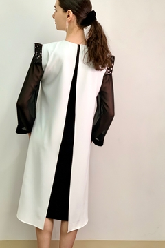 Mossaic Black and White Dress by  2302 - Alternate List Image