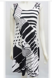 Sophie A Black and white geometric print dress - Product Mini Image