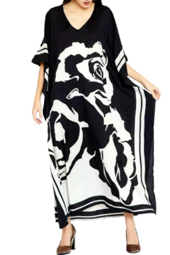 Shoptiques Product: Black and White Kaftan