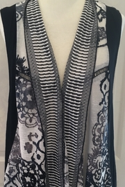 Vintage Concept  Black and white open front vest - Product Mini Image