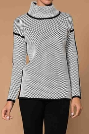 Elena Wang Black and White Pattern Sweater - Product Mini Image