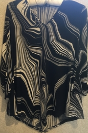 Marble Black and white patterned tunic top - Product Mini Image