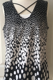 Frank Lyman Black and white polka dot sleeveless tank - Product Mini Image