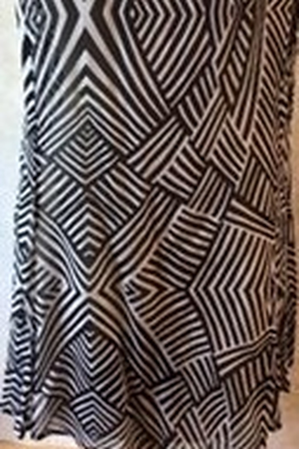 casual studio Black and white safari print top - Front Full Image