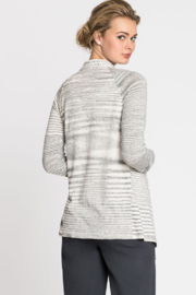 Nic + Zoe  Black and white stripe cardigan - Side cropped