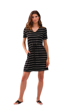 Alison Sheri Black and White Striped Dress - Product List Image