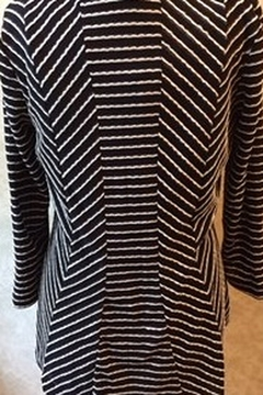Lynn Ritchie Striped black and white tunic top with 3/4 sleeves - Alternate List Image