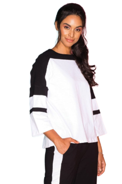 Elena Wang Black and White Top - Product List Image