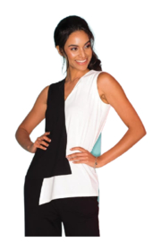 Elena Wang Black and White Tunic - Front cropped