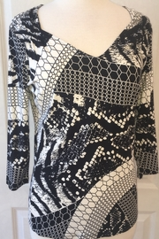 Lynn Ritchie Black and white tunic blouse - Product Mini Image