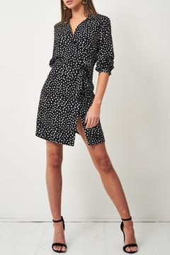 frontrow Black Animal-Print Dress - Alternate List Image
