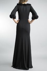 Basix Black Applique Gown - Front full body
