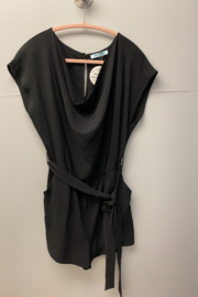 She and Sky Black Audrey Romper - Product Mini Image