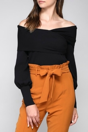 Do & Be Black Balloon-Sleeve Top - Product Mini Image
