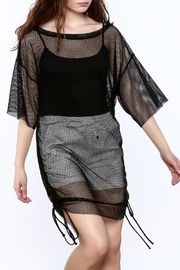 Shoptiques Product: Black Fishnet Dress