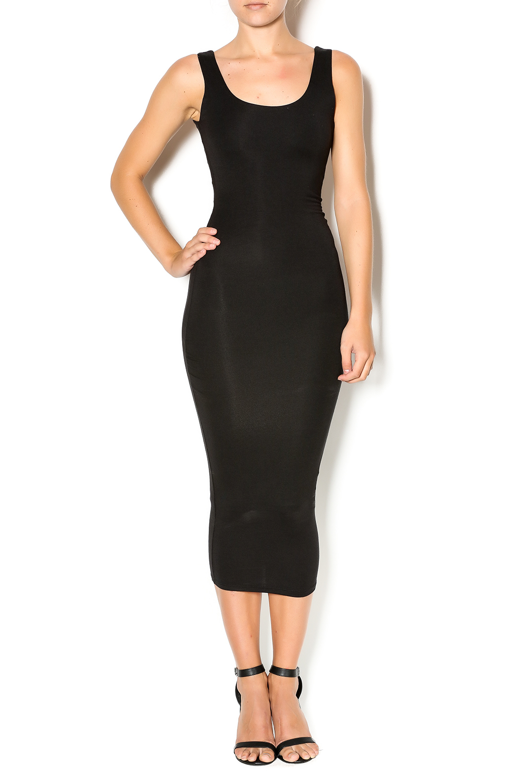 Black Bead Fitted Dress from Manhattan by Dor L'Dor ...