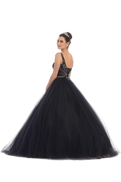 May Queen  Black Beaded Long Formal Ball Gown - Alternate List Image