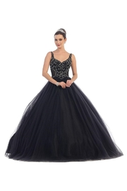 May Queen  Black Beaded Long Formal Ball Gown - Product Mini Image