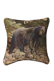 RA# 66049 Black Bear Pillow - Product Mini Image
