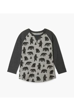 Hatley Black Bears Raglan Tee - Product List Image