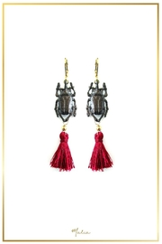 Malia Jewelry Black-Beetle Tassel Earrings - Product Mini Image