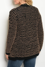 C.O.C Black Beige Cardigan - Front full body