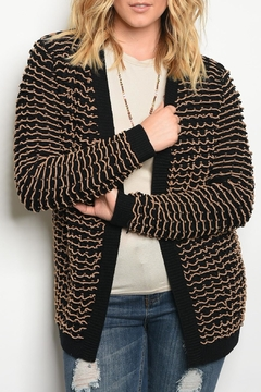 Shoptiques Product: Black Beige Cardigan