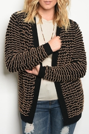 C.O.C Black Beige Cardigan - Product Mini Image