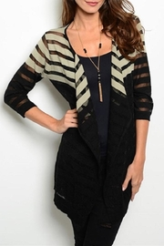 Adore Clothes & More Black Beige Sweater - Product Mini Image