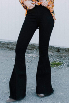 The Emerald Fox Boutique Black Bell Bottom Jeans - Product List Image