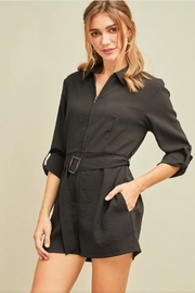 Entro Black Belted Romper - Product Mini Image