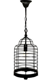 The Birch Tree Black Bird Cage Light - Front cropped