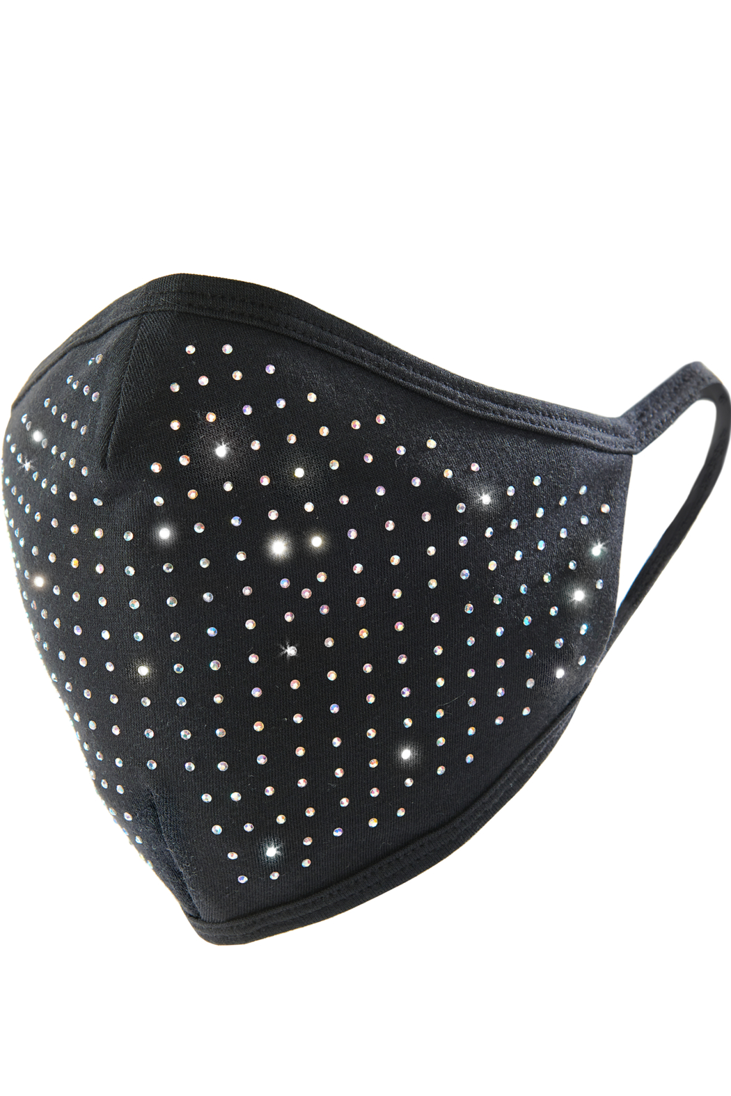 Giftcraft Inc.  Black Bling Adult Face Mask - Front Cropped Image