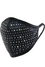Giftcraft Inc.  Black Bling Adult Face Mask - Front cropped