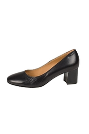 Lady Doc Black Block-Heel Court - Front cropped