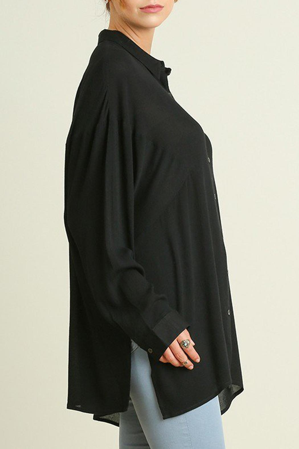 Umgee USA Black Blouse Side-Slit - Main Image