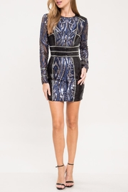 Latiste Black&Blue Sequins Dress - Product Mini Image