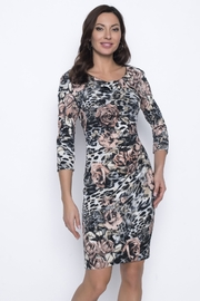 Frank Lyman Black/Blush Knit Dress - Product Mini Image