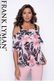 Frank Lyman BLACK/BLUSH/LIGHT BLUSH Top - Front cropped