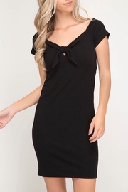 She + Sky Black Bodycon Dress - Product Mini Image