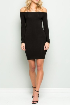 Wasabi + Mint Black Bodycon Dress - Product List Image