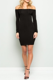 Wasabi + Mint Black Bodycon Dress - Product Mini Image