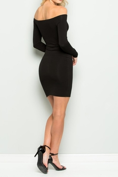 Wasabi + Mint Black Bodycon Dress - Alternate List Image