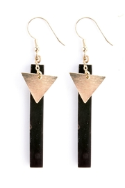 Mata Traders Black Bone Earrings - Product Mini Image