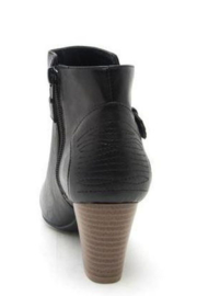 Qupid Black Bootie - Front full body