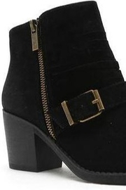 Qupid Black Bootie With Buckle - Side cropped