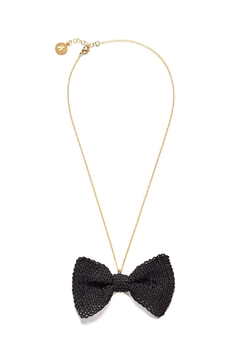 Shoptiques Product: Black Bow Necklace