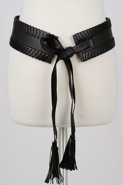 Minx Black Braided Belt - Product List Image