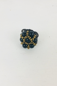Shoptiques Product: Black-Bronze Bead Ring